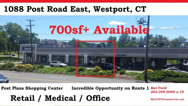 Listing Image #1 - Shopping Center for lease at 1088 Post Plaza East, Westport CT 06880