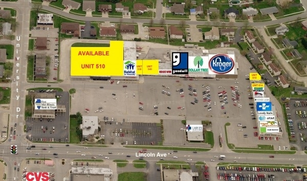 Listing Image #1 - Shopping Center for lease at 510 - 626 West Lincoln Ave (Route 16), Charleston IL 61920