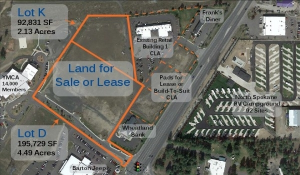 Listing Image #1 - Land for lease at 10925 North Newport Hwy, Spokane WA 99218