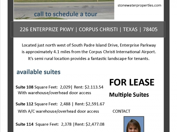 Listing Image #1 - Office for lease at 226 S. Enterprize Pkwy, Suite 108, Corpus Christi TX 78405