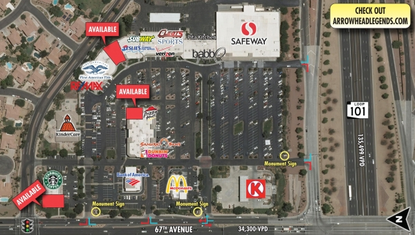 Listing Image #1 - Retail for lease at NEC 67th Avenue & Loop 101, Glendale AZ 85308
