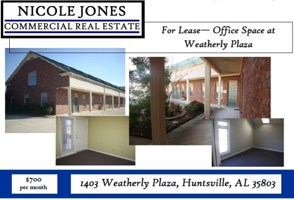 Listing Image #1 - Office for lease at 1403 Weatherly Plaza, Huntsville AL 35803