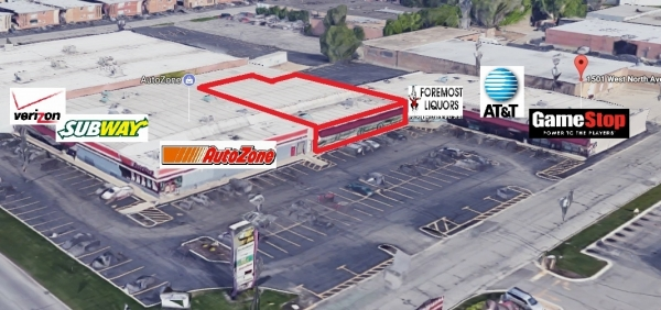 Listing Image #1 - Retail for lease at 1501 W North Avenue, Melrose Park IL 60160