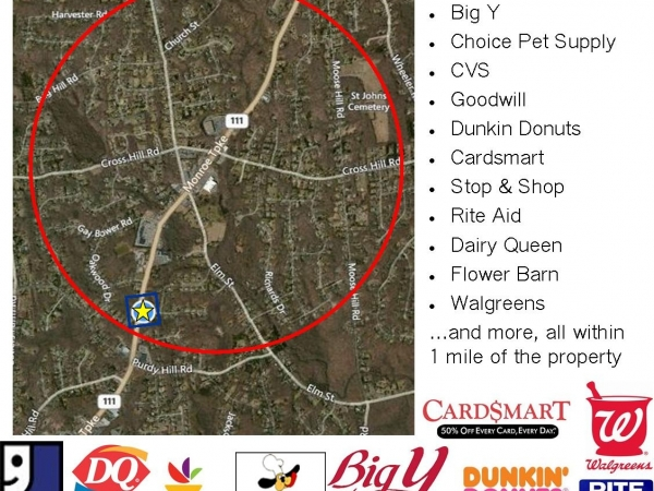 Listing Image #2 - Land for lease at 365 Monroe Turnpike, Monroe CT 06468
