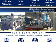 Multi-Use property for lease in Oshkosh, WI