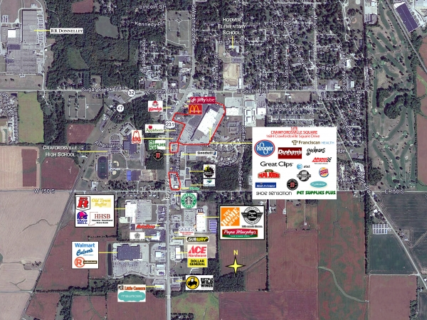 Listing Image #1 - Shopping Center for lease at 1684 Crawfordsville Square Drive, Crawfordsville IN 47933