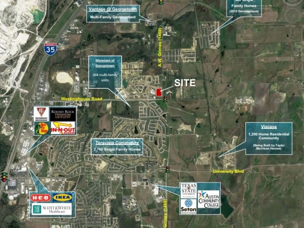Listing Image #1 - Land for sale at Teravista Crossing & A.W. Grimes Boulevard, Georgetown TX 78626