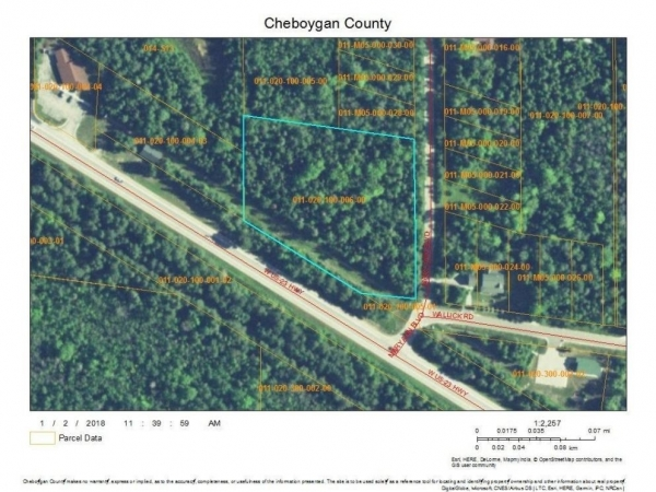 Listing Image #1 - Land for sale at 10752 W US 23 2.69 acres, Mackinaw City MI 49701