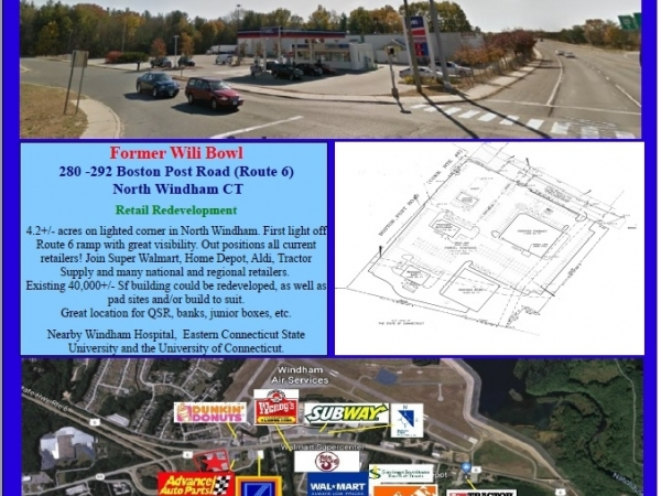 Listing Image #1 - Retail for sale at 280-292 Boston Post Road, Windham CT 06256