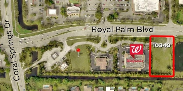 Listing Image #1 - Land for sale at 10340 Royal Palm Blvd, Coral Springs FL 33065