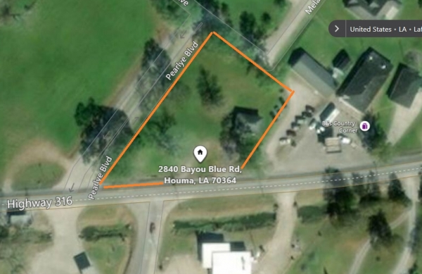 Listing Image #1 - Land for sale at 2840 Bayou Blue Rd, Houma LA 70364