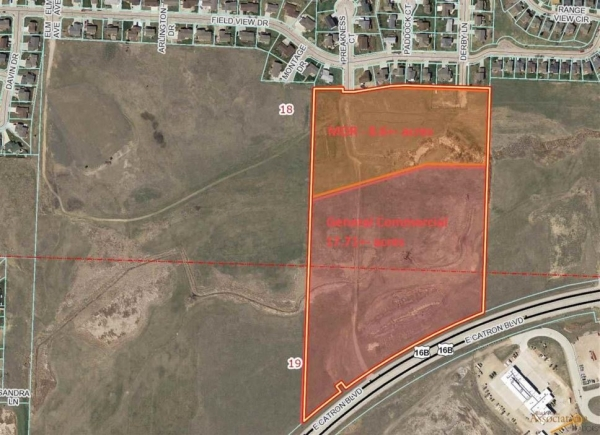 Listing Image #1 - Land for sale at TBD Catron Blvd - 17.71 Commercial Frontage Acres, Rapid City SD 57701