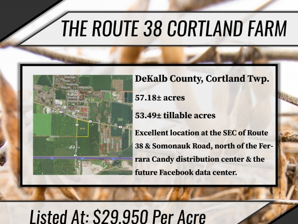 Listing Image #1 - Land for sale at Route 38 & Somonauk Road, Cortland IL 60112