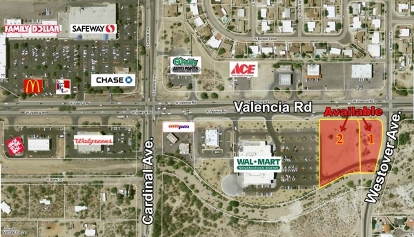 Listing Image #1 - Retail for sale at SWC of Valencia Rd. and Westover Ave, Tucson AZ 85746