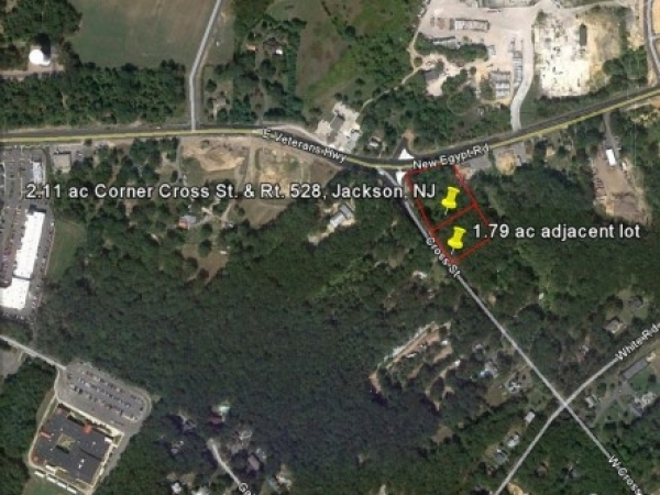 Listing Image #1 - Land for sale at Corner Cross St. & Lakewood New Eygpt Rd. (Rt. 528), Jackson NJ 08527