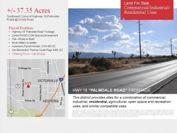 Listing Image #1 - Land for sale at 5900 Palmdale Road, Phelan CA 92371