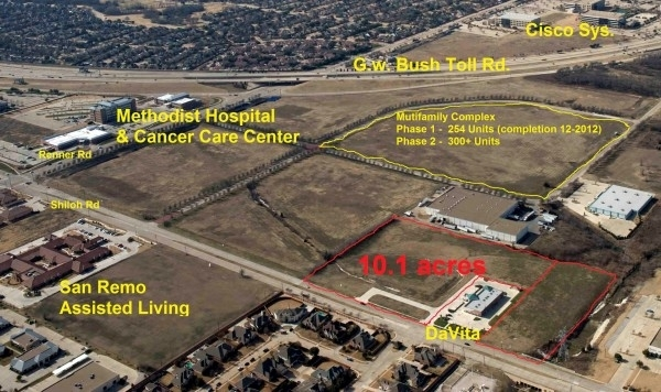 Listing Image #1 - Land for sale at 500 Shiloh Rd, Plano TX 75074