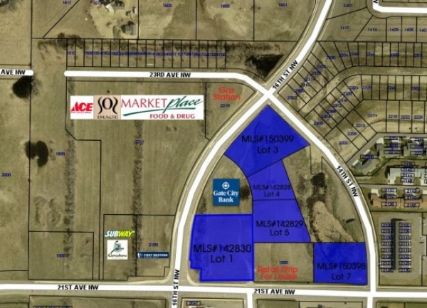 Listing Image #1 - Land for sale at 1520 NW 21st Ave, Minot ND 58701