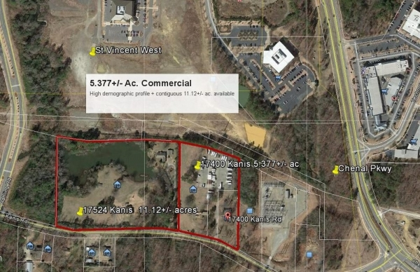 Listing Image #1 - Land for sale at 17400 Kanis Road, Little Rock AR 72211