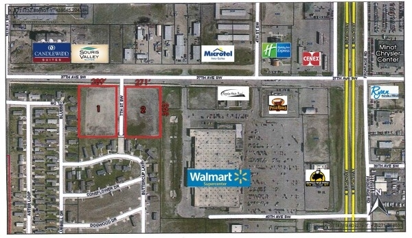 Listing Image #1 - Land for sale at SE CORNER OF 7TH ST SW & 37TH AVE SW, Minot ND 58701