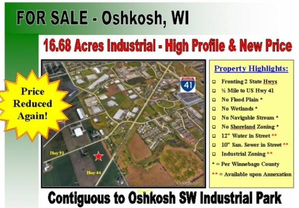 Listing Image #1 - Land for sale at State Roads 44 & 91, Oshkosh WI 54904
