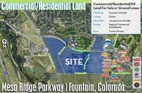 Listing Image #1 - Land for sale at Mesa Ridge Parkway, Fountain CO 80911