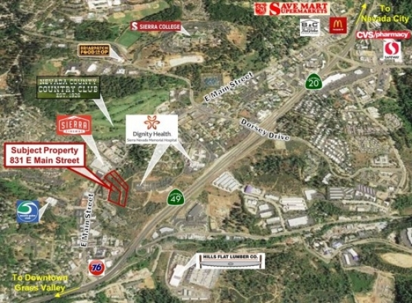 Listing Image #1 - Land for sale at 831 E Main Street, Grass Valley CA 95945