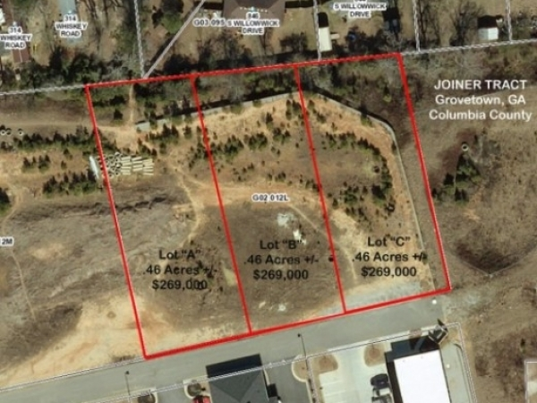 Listing Image #1 - Land for sale at 0 Wrightsboro Rd, Grovetown GA 30813