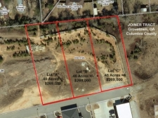 Land for sale in Grovetown, GA