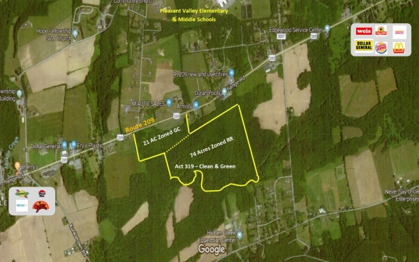 Listing Image #1 - Land for sale at Route 209, Kunkletown PA 18058