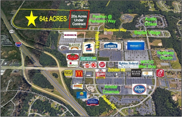 Listing Image #1 - Land for sale at 749 Lamar Road, Macon GA 31210