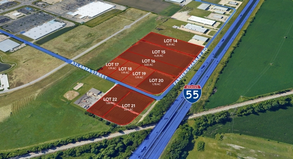 Listing Image #1 - Land for sale at Lots 14-22 Atlanta and Farmers Market Rd, Springfield IL 62707