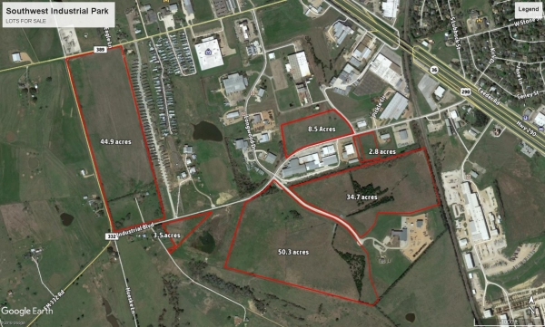 Listing Image #1 - Industrial Park for sale at Southwest Industrial Park IV, 3020 Industrial Blvd, Brenham TX 77833